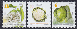 Macedonia 2014 Definitive - Vegetables, MNH (**) Michel 704, 706 And 708 - Mazedonien
