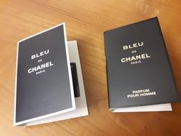 """2 Echantillons  Sur Carte  """"Bleu De CHANEL """" De CHANEL   EdP Pour Homme Et EdT  Pour Homme - Perfume Cards"""