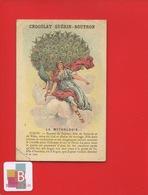 GUERIN BOUTRON Chromo Didactique MYTHOLOGIE JUNON DEESSE CIEL MARIAGE PAON - Guérin-Boutron