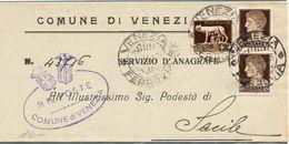 Piego Anagrafico ( 218 ) - 1900-44 Vittorio Emanuele III