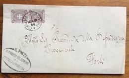CIVITELLA DI ROMAGNA   1/5/1900 Annullo Su Coppia C. 1 PIEGO PER FORLI' CON TIMBRO COMUNE E FIRMA DEL SINDACO - 1900-44 Vittorio Emanuele III