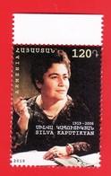 Armenien / Armenie / Armenia 2019, 100th Anniv. Of Silva Kaputikyan (1919-2006), Writer - MNH - Armenien