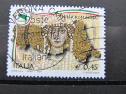 *ITALIA* USATI 2004 - 1^ REGIONI D'ITALIA EMILIA ROMAGNA - SASSONE 2775 - LUSSO/FIOR DI STAMPA - 6. 1946-.. Repubblica