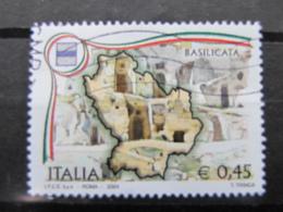 *ITALIA* USATI 2004 - 1^ REGIONI D'ITALIA BASILICATA - SASSONE 2774 - LUSSO/FIOR DI STAMPA - 6. 1946-.. Repubblica