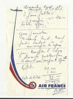 Devis Voyage Jerusalem Sur Papier  Air France  1976 - Publicités