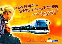 Tramway - Année 2002 - Inauguration De La 1ère Ligne De Tramway De L'agglomération Caennaise - Tramways