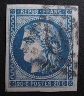 DF50478/112 - CERES EMISSION DE BORDEAUX N°46Ba Bleu Foncé - LGC - Cote : 50,00 € - 1870 Bordeaux Printing