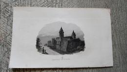 Gravure Ancienne Château De Blain 44  Rauch Del - Historical Documents