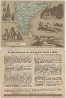 Chromos Librairie Hachette Etablissements Français Dans L'Inde - Chromos