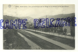 Anseremme. Vue Panoramique Sur Le Village Et Le Chemin De Fer Vers Dinant. 1922. G. Hermans - Andenne