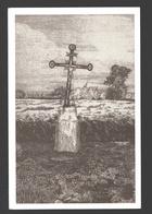 Dommartin - Croix D'el Rodge Male - Dessin à La Plume Ph. Collin - Ed. Dommartin Village Fleuri - Papier De Lin - Saint-Georges-sur-Meuse