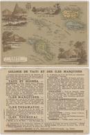 Chromos Librairie Hachette Colonie De Taiti Et Des Iles Marquises - Chromos