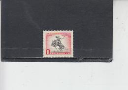 URUGUAY  1954- Yvert  624** - Cavallo - Serie Corrente - Uruguay