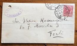 AMBULANTE BIELLA SANTHIA' 12 *  8/8/23 SU  SU LETTERA A STAMPA DA BIELLA A FORLI' - 1900-44 Vittorio Emanuele III