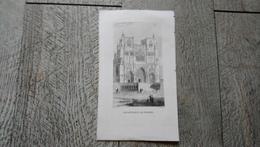 Gravure Ancienne Cathédrale De Vienne Rauch Del - Documents Historiques