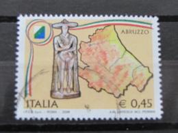 *ITALIA* USATI 2004 - 1^ REGIONI D'ITALIA ABRUZZO - SASSONE 2773 - LUSSO/FIOR DI STAMPA - 6. 1946-.. Repubblica