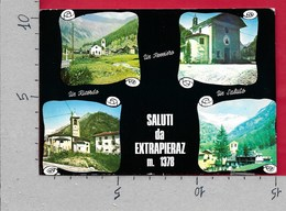 CARTOLINA VG ITALIA - Saluti Da EXTRAPIERAZ (AO) BRUSSON - Vedutine Multivue - 10 X 15 - ANN. 1970 - Saluti Da.../ Gruss Aus...