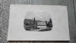 Gravure Ancienne Les Baignots Hôtel Impérial Thermal Dax  Rauch Del - Documents Historiques