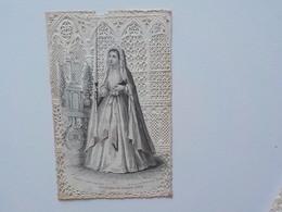 1900 Image Religieuse Chromo Découpis Canivet Dentelles Bouasse-Lebel Souvenir Grand Jour N° 1 - Devotieprenten