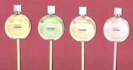 F-  NEW!! Lot De 4 Touches-répliques  Chanel - Chance - Perfume Card -USA - Perfume Cards