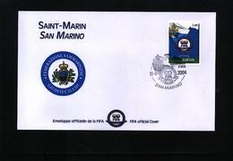 San Marino 2004 100 Years Of FIFA Interesting Cover - Fútbol