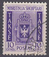 ALBANIA - 1940 -  Segnatasse Usato: Yvert 36. - Albania