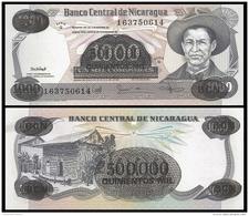 Nicaragua 500000 On 1000 CORDOBAS 1987 P 150 UNC - Nicaragua