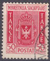 ALBANIA - 1940 -  Segnatasse Usato: Yvert 39. - Albania