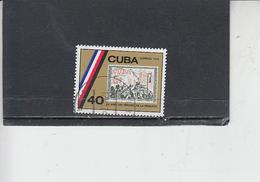 CUBA  1974 - Yvert 1732° - Francobollo Su Francobollo - Cuba
