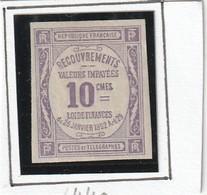 France Timbre Non Dentele Taxe N° 43 Signe Brun Avec Charnière * - Francia
