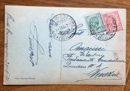 """CINTO CAOMAGGIORE VENEZIA 1/7/21  SU CARTOLINA  FOTOGRAFICA """"LETTERA AL NONNO"""" - 1900-44 Vittorio Emanuele III"""