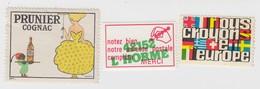 COGNAC PRUNIER, ADRESSE POSTALE L'HORME 42152, NOUS CROYONS EN L'EUROPE - Commemorative Labels