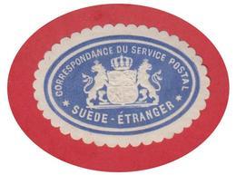 SUEDE -- SVERIGE -- TIMBRE UTILISE POUR LES ENVOIS OFFICIELS VERS L'ETRANGER -- FACIT N°PS2-- - Suède