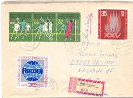 DDR DRESDEN REGISTRED MAIL 1974 (GEN190163) - Pallavolo