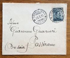 COMEGLIANS (UDINE) Annullo Cin Barre SU MICHETTI 15 C. BUSTA PER PASSIRANO IN DATA 23/3/15 - 1900-44 Vittorio Emanuele III