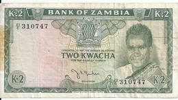 ZAMBIE 2 KWACHA ND1968 VF P 6 - Zambie