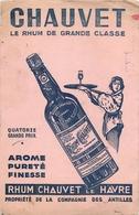 Buvard Ancien RHUM CHAUVET LE HAVRE - Liqueur & Bière