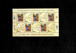 Vaticano 2009 Foglietto N 92 Festival Internazionale Della Filatelia - Emissione Congiunta San Mario Vaticano Italia - 6. 1946-.. Repubblica
