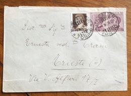 DECENNALE 10 C. ISOLATO SU BUSTA STAMPE DA VENEZIA PER CITTA' - 1900-44 Vittorio Emanuele III