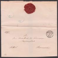 BERLIN Altbrief 1856 An Magistrat Der Königlichen Die Residentzstadt Hannober, Ohne Inhalt, Siegel Kön. Pr. Polizei - Deutschland