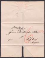EHINGEN Altbrief 184. Nach Ostrach Bei Mengen, Rs. Geprüft E. Weikelt, 6 Gr. Rötelvermerk - Deutschland