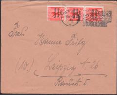 """GERA 30.10.48 8 Pf Bären Mit SBZ Aufdruck Als Fernbrief ,SBZ 202A(3), MWSt. """"1848 - 1948 Mahnt Einheit Deutschlands"""" - Zone Soviétique"""