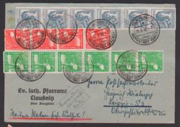 Claussnitz über Burgstädt (Sachs) 25.6.48 Zehnfachfrankatur An Postlaufbearbeiter In Leipzig Oberpostdirektion - Sowjetische Zone (SBZ)