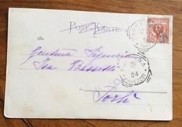 PORRENA AREZZO Annullo T.R. Su Bella Cartolina Con Mazzo Di Violette - 1900-44 Vittorio Emanuele III