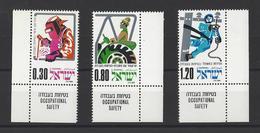 ISRAEL.  YT  N° 563/565  Neuf **   1975 - Neufs (avec Tabs)