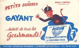 Buvard Ancien PETITS SUISSES GAYANT - LAITERIE CENTRALE FERMIERE - DOUAI - Produits Laitiers