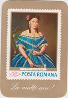 CALENDARS - ROMANIA 1970  Filatelia- Stamps Issue - Painting  ( 6.5x 9.5 Cm) -2 Scans - Calendriers