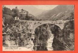 VAQ-34 Stalden Pont Sur La Viège Ligne Viège Zermatt Visp  Burgy 4477Circulé Sous Enveloppe. - VS Valais