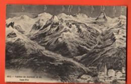 VAQ-35 Vallée De  Zermatt Saasfee Panorama Visp Neubrücke, Stalden St.Niklaus.Nicht Gelaufen - VS Valais