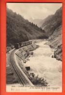 VAQ-36 Chemin De Fer Viège-Zermatt Bahn Visp Zermatt, Vispbach. Stempel 21 July 1908. Phototypie 11198 - VS Valais